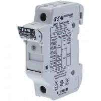Държач за стопяем предпазител LV, 30 A, AC 600 V, 10 x 38 mm, CC, 1P, UL, индикиращ, за монтаж на DIN шина