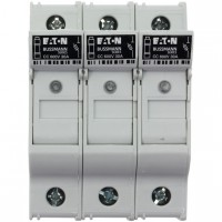 Държач за стопяем предпазител LV, 30 A, AC 600 V, 10 x 38 mm, CC, 3P, UL, индикиращ, за монтаж на DIN шина