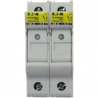 Държач за стопяем предпазител LV, 32 A, DC 1000 V, 10 x 38 mm, gPV, 2P, UL, IEC, индикиращ, за монтаж на DIN шина