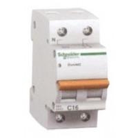 Миниатюрен автоматичен прекъсвач Domae, 2P, 6A, C, 6kA