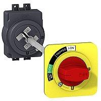 Удължена въртяща ръкохватка, червена с жълт щит, за EZC100