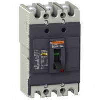 Автоматичен прекъсвач с лят корпус EasyPact, 18 kA, 15 A, 3P, Термо-магнитна защита