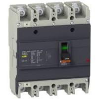 Автоматичен прекъсвач с лят корпус EasyPact, 25 kA, 63 A, 4P/3T, Термо-магнитна защита