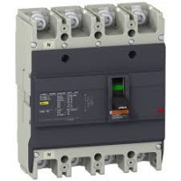 Автоматичен прекъсвач с лят корпус EasyPact, 25 kA, 63 A, 4P/4T, Термо-магнитна защита
