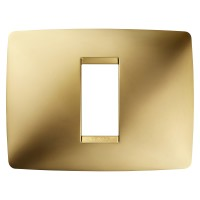 Cover Plate Chorus ONE IT, Metallised Technopolymer, Gold, 1 module, Horizontal