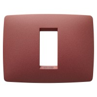 Cover Plate Chorus ONE IT, Painted Technopolymer Pastel Colours, Ruby, 1 module, Horizontal