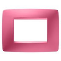 Cover Plate Chorus ONE IT, Technopolymer, Sapphire Pink, 3 modules, Horizontal