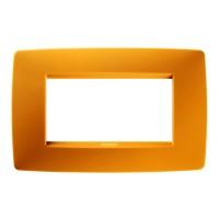 Cover Plate Chorus ONE IT, Technopolymer, Opal Orange, 4 modules, Horizontal