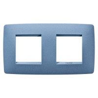 Cover Plate Chorus ONE INTERNATIONAL, Painted Technopolumer Pastel Colours, Sea Blue, 2+2 modules, Horizontal