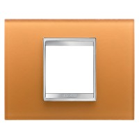 Cover Plate Chorus LUX IT, Glass, Ochre, 2 modules, Horizontal