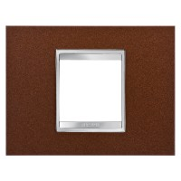 Cover Plate Chorus LUX IT, Metal, Oxidised Finish, 2 modules, Horizontal