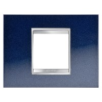 Cover Plate Chorus LUX IT, Metal, Chic Blue, 2 modules, Horizontal