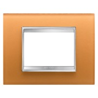 Cover Plate Chorus LUX IT, Glass, Ochre, 3 modules, Horizontal