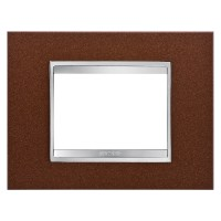 Cover Plate Chorus LUX IT, Metal, Oxidised Finish, 3 modules, Horizontal