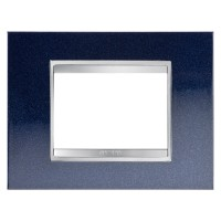 Cover Plate Chorus LUX IT, Metal, Chic Blue, 3 modules, Horizontal