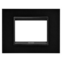 Cover Plate Chorus LUX IT, Monochrome Metal, Monochrome Black, 3 modules, Horizontal