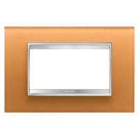 Cover Plate Chorus LUX IT, Glass, Ochre, 6 modules, Horizontal