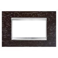 Cover Plate Chorus LUX IT, Wood, Wenge, 4 modules, Horizontal