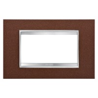Cover Plate Chorus LUX IT, Metal, Oxidised Finish, 4 modules, Horizontal
