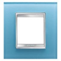 Cover Plate Chorus LUX INTERNATIONAL, Glass, Aquamarine, 2 modules, Horizontal, Vertical