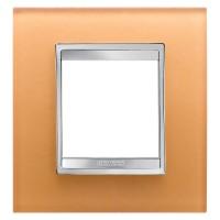 Cover Plate Chorus LUX INTERNATIONAL, Glass, Ochre, 2 modules, Horizontal, Vertical