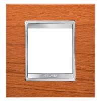 Cover Plate Chorus LUX INTERNATIONAL, Technopolymer Wood Finish, Cherry, 2 modules, Horizontal, Vertical