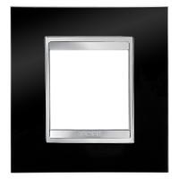 Cover Plate Chorus LUX INTERNATIONAL, Technopolymer, Toner Black, 2 modules, Horizontal, Vertical