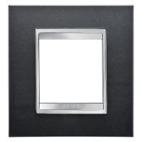 Cover Plate Chorus LUX INTERNATIONAL, Technopolymer, Slate, 2 modules, Horizontal, Vertical