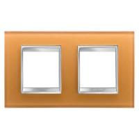 Cover Plate Chorus LUX INTERNATIONAL, Glass, Ochre, 2+2 modules, Horizontal