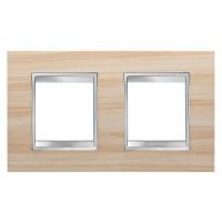 Cover Plate Chorus LUX INTERNATIONAL, Technopolymer Wood Finish, Maple, 2+2 modules, Horizontal