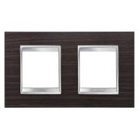 Cover Plate Chorus LUX INTERNATIONAL, Technopolymer Wood Finish, Wenge, 2+2 modules, Horizontal