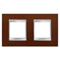 Cover Plate Chorus LUX INTERNATIONAL, Metal , Oxidised Finish, 2+2 modules, Horizontal
