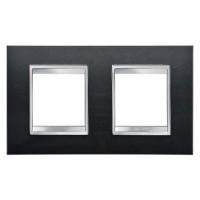 Cover Plate Chorus LUX INTERNATIONAL, Technopolymer, Slate, 2+2 modules, Horizontal