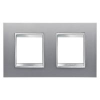 Cover Plate Chorus LUX INTERNATIONAL, Technopolymer, Titanium, 2+2 modules, Horizontal