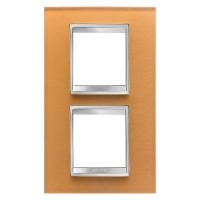 Cover Plate Chorus LUX INTERNATIONAL, Glass, Ochre, 2+2 modules, Vertical