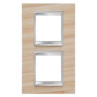 Cover Plate Chorus LUX INTERNATIONAL, Technopolymer Wood Finish, Maple, 2+2 modules, Vertical