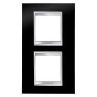 Cover Plate Chorus LUX INTERNATIONAL, Technopolymer, Toner Black, 2+2 modules, Vertical