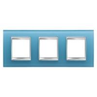 Cover Plate Chorus LUX INTERNATIONAL, Glass, Aquamarine, 2+2+2 modules, Horizontal