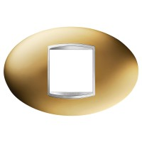 Cover Plate Chorus ART IT, Metallised Technopolymer, Gold, 2 modules, Horizontal
