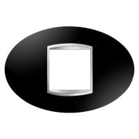Cover Plate Chorus ART IT, Technopolymer, Toner Black, 2 modules, Horizontal