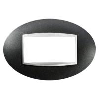 Cover Plate Chorus ART IT, Painted Technopolymer, Slate, 4 modules, Horizontal