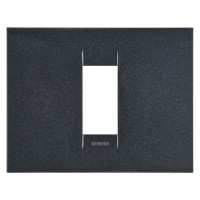 Cover Plate Chorus GEO IT, Painted Technopolymer, Slate, 1 module, Horizontal