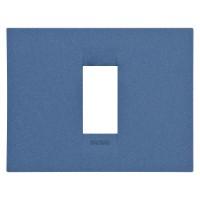 Cover Plate Chorus GEO IT, Painted Technopolymer Pastel Colours, Sea Blue, 1 module, Horizontal