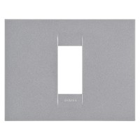 Cover Plate Chorus GEO IT, Painted Technopolymer, Titanium, 1 module, Horizontal