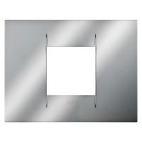 Cover Plate Chorus GEO IT, Metallised Technopolymer, Chrome, 2 modules, Horizontal