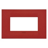 Cover Plate Chorus GEO IT, Painted Technopolymer Pastel Colours, Ruby, 4 modules, Horizontal