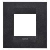 Cover Plate Chorus GEO INTERNATIONAL, Painted Technopolymer, Slate, 2 modules, Horizontal, Vertical