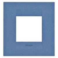 Cover Plate Chorus GEO INTERNATIONAL, Painted Technopolymer Pastel Colours, Sea Blue, 2 modules, Horizontal, Vertical