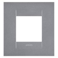Cover Plate Chorus GEO INTERNATIONAL, Painted Technopolymer, Titanium, 2 modules, Horizontal, Vertical