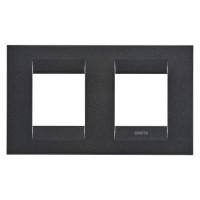 Cover Plate Chorus GEO INTERNATIONAL, Painted Technopolymer, Slate, 2+2 modules, Horizontal